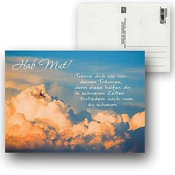 Cartolini Postkarte Karte Spruche Zitate 15 5 X 11 5 Cm Hab Mut