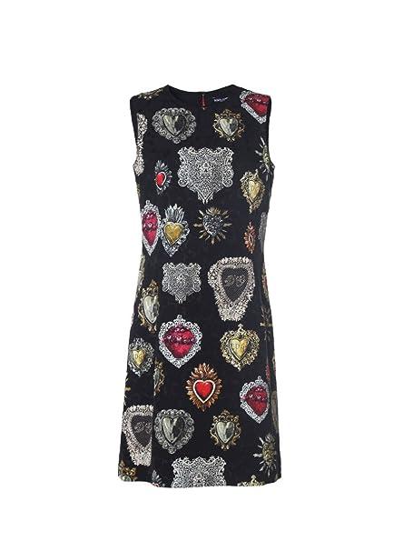 Dolce   Gabbana Vestito - Donna Nero Taglia produttore 40  Amazon.it ... 19f6f4c0cf4