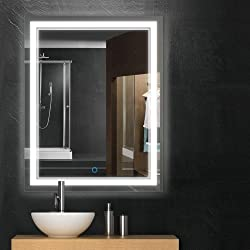 Keonjinn 36x28 Over Vanity Anti-Fog Bathroom Mirror