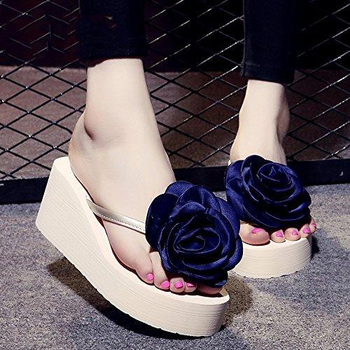 De De Zapatillas Flor Zapatos Años 18 Chanclas Zapatos Manera La Femeninas MEIDUO 40 Para cómodo Antideslizantes De Hechas sandalias 1004 La Verano Playa De Manera La Mano Zapatillas Del A La nZvOHn