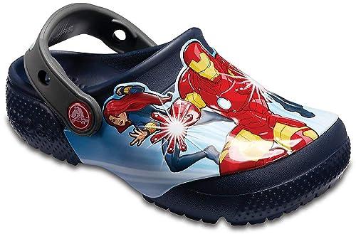 9de6049498bb6 Amazon.com | Crocs Kids' Boys Girls Marvel Avengers Character Clog ...