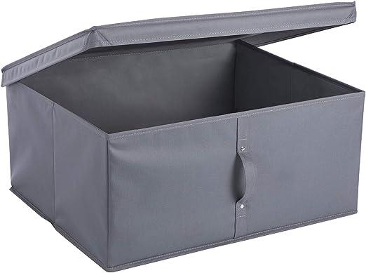 Wedestock - Caja de almacenaje Plegable (55 x 45 x 25 cm), Color Gris: Amazon.es: Hogar