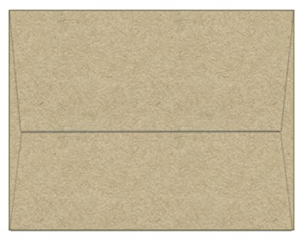 amazon com 100 kraft a7 envelopes 7 25 x 5 25 square flap