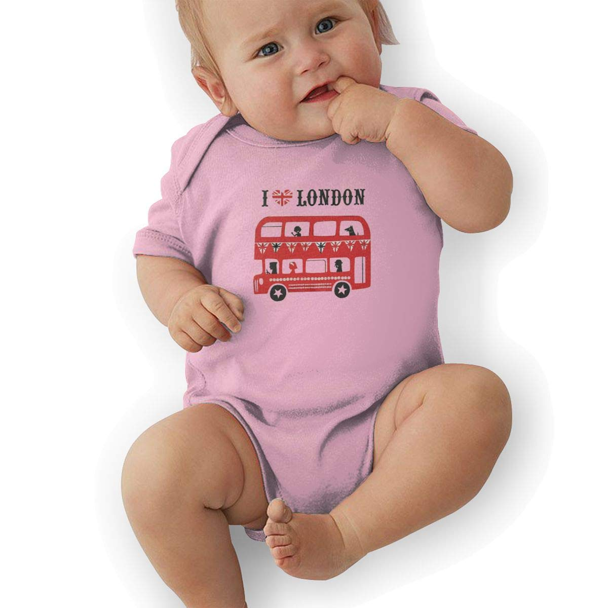 I Love London Baby Romper 0-18 Months Newborn Baby Girls Boys Layette Rompers Black
