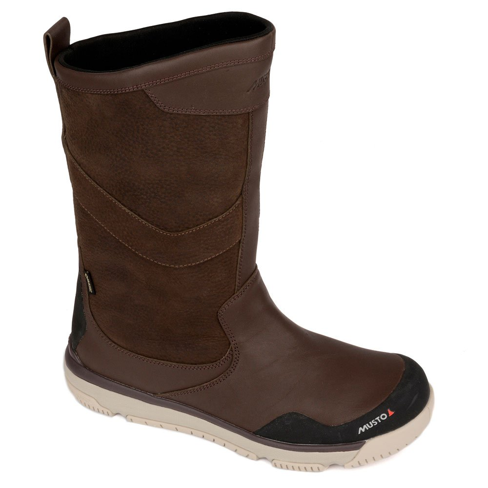 Musto Gore-Tex Leather Sailing Boot(レザー セーリング ブーツ) FUFT002 uk9.5 Dark Brown B07DJPG7Y2