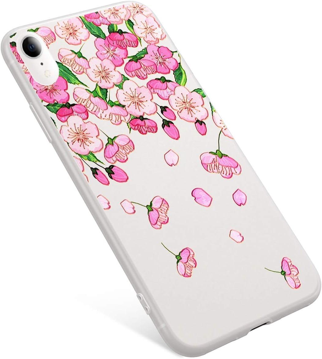 Sakura Uposao Funda iPhone XR Carcasa Scrub Transparente Dibujos