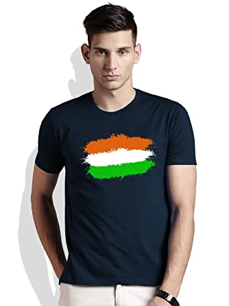 a6998ba5dbc312 India Flag Men's Cotton T-shirt: Amazon.in: Clothing & Accessories