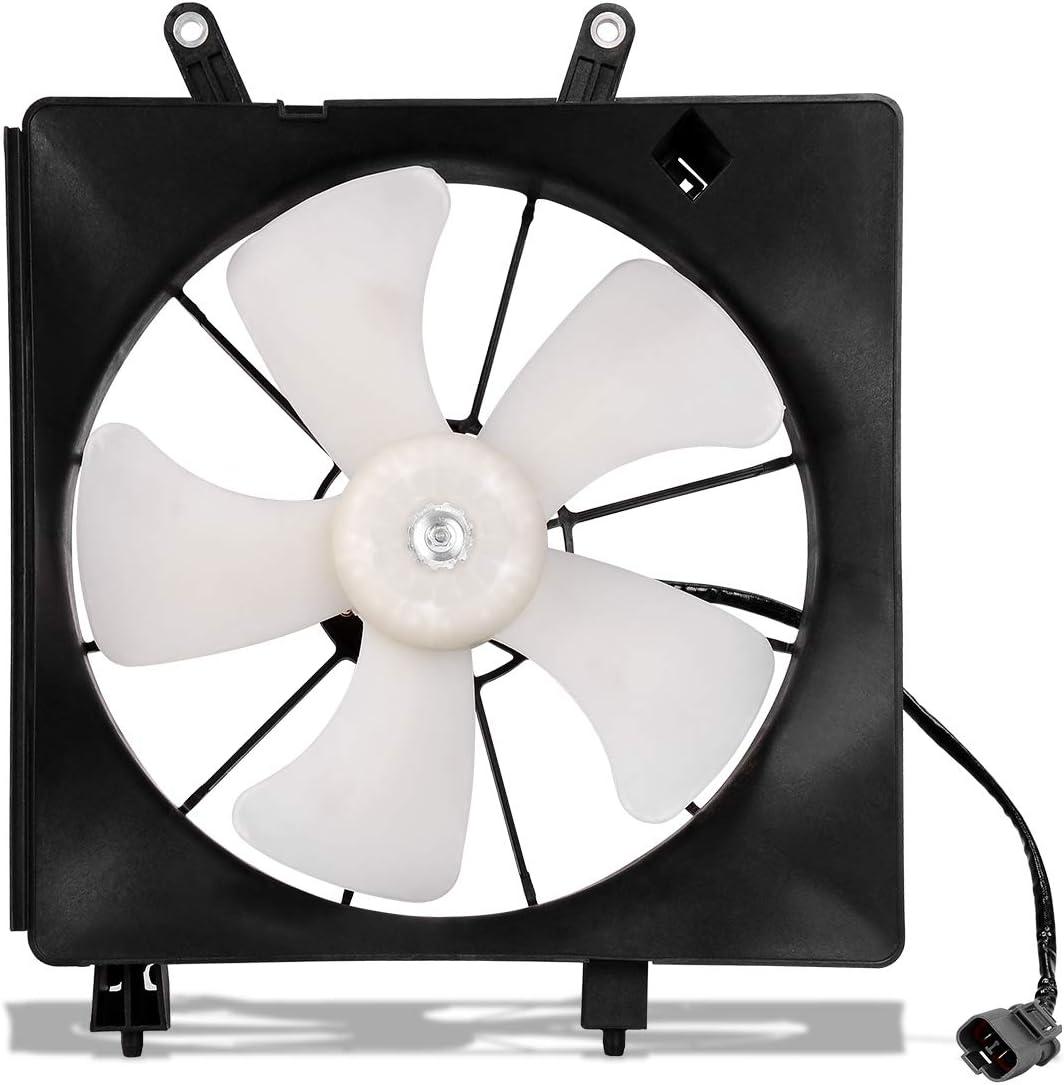 Radiator Cooling Fan For 2001 2002 2003 2004 2005 Honda Civic DX EX GX HX LX Si Reverb Value Package 1.7L L4 ATRDF013