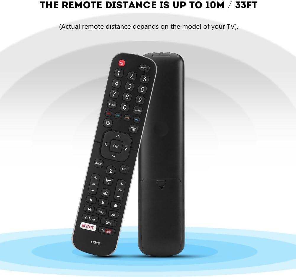 Zerone Mando a Distancia Universal EN2B27 para Hisense TV, Mando a Distancia de Repuesto para Hisense 40K321UW 58K700UWD 65K720UWG Smart TV: Amazon.es: Electrónica