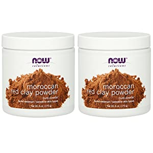 NOWRed Clay Powder Moroccan, 6-Ounce (Pack of 2)