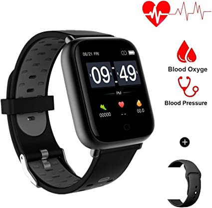 Aeifond Smart Watch Fitness Tracker Compatible Samsung Android iPhone iOS Healthy Exercise Smartwatch IP67 Waterproof Activity Tracker Heart Rate ...