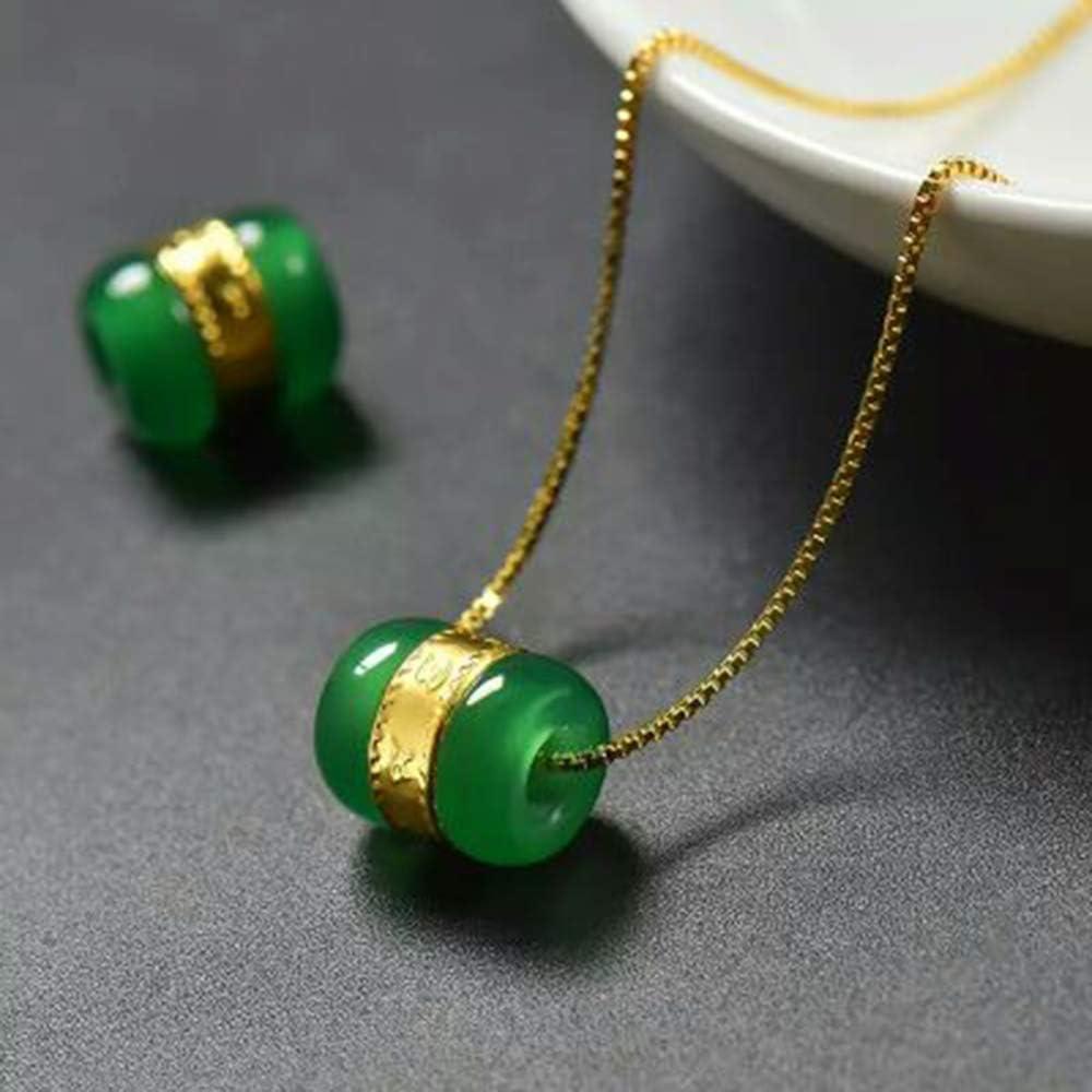 Natural chalcedony green beans pendant Yudoujia jade pendant