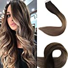 """Fshine 18"""" Tape Ombre Hair Extensions Full Head Remy Hair Extensions Human Hair"""