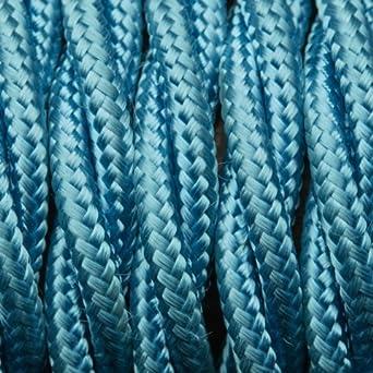 Hellblau Twisted Stoff Flex – geflochtenen Tuch Kabel Beleuchtung ...