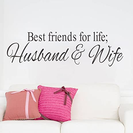 Amazon mlm 67228 best friends for life husband wife mlm 67quot228quot best friends for life husband wife quotes wall decal junglespirit Choice Image