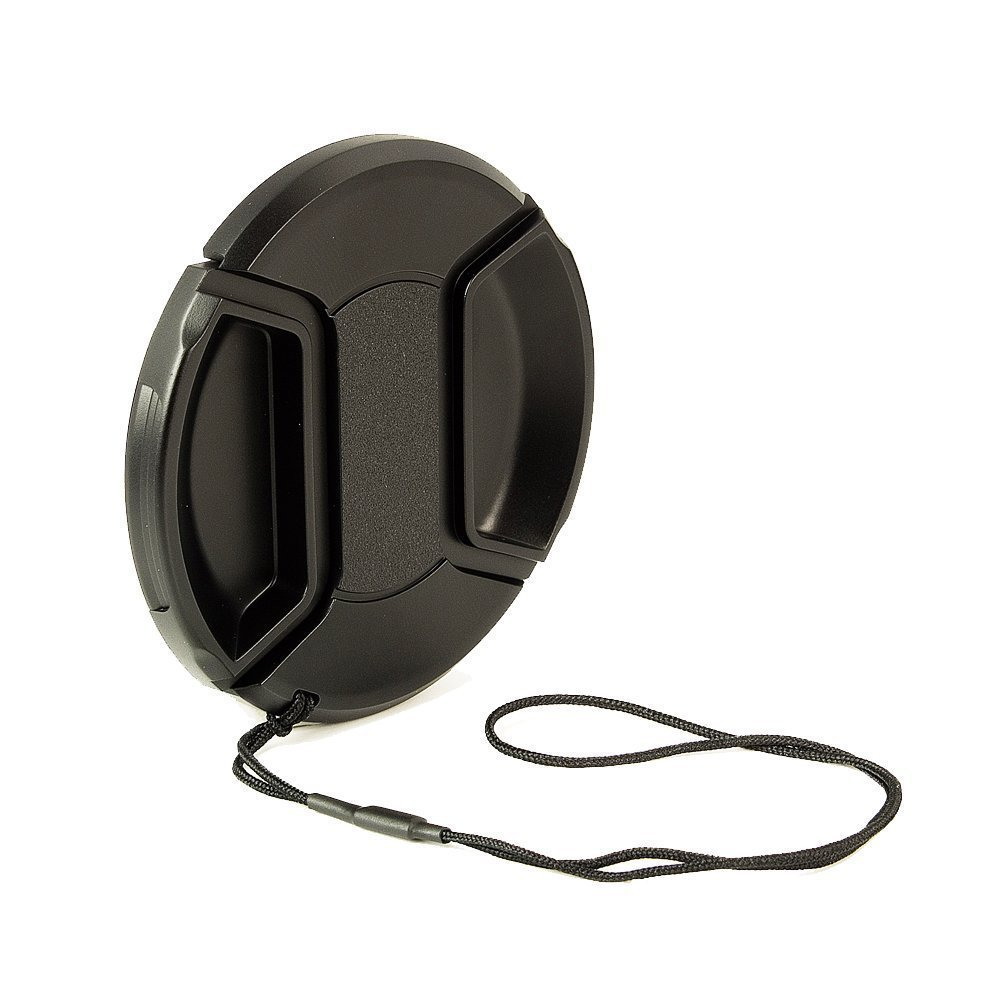 BlueBeach® 55mm High Quality Lens Cap - Snap on Clip on with String for Camcorders, Cameras - Canon, Nikon, Olympus, Panasonic, Pentax,Samsung, Sony, Leica etc lenscap-8