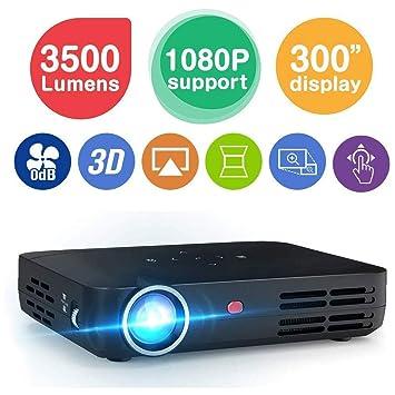MQQ HD Mini proyector Smart 3500 lúmenes Mini proyector DLP LED ...