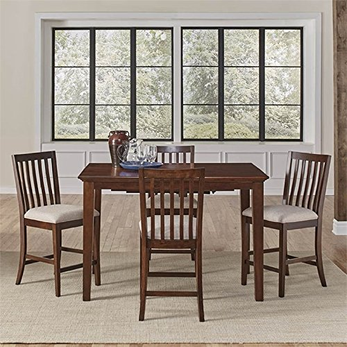 A-America Westlake 5 Piece Extendable Counter Height Dining Set