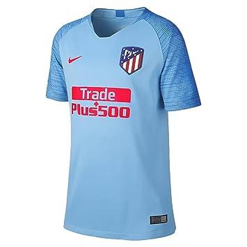 ffef1edc42ae4 Nike Camiseta de la 2ª EQUIPACION del Atletico DE Madrid 18 19 Junior   Amazon.es  Deportes y aire libre