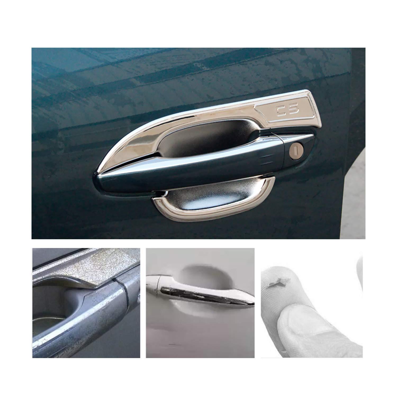 4 pezzi LFOTPP compatibile con maniglia per portiera auto in ABS cromato C5 Aircross