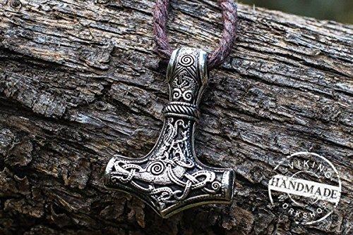 Thor's Hammer from Mammen Sterling Silver Mjolnir Pendant by Viking Workshop