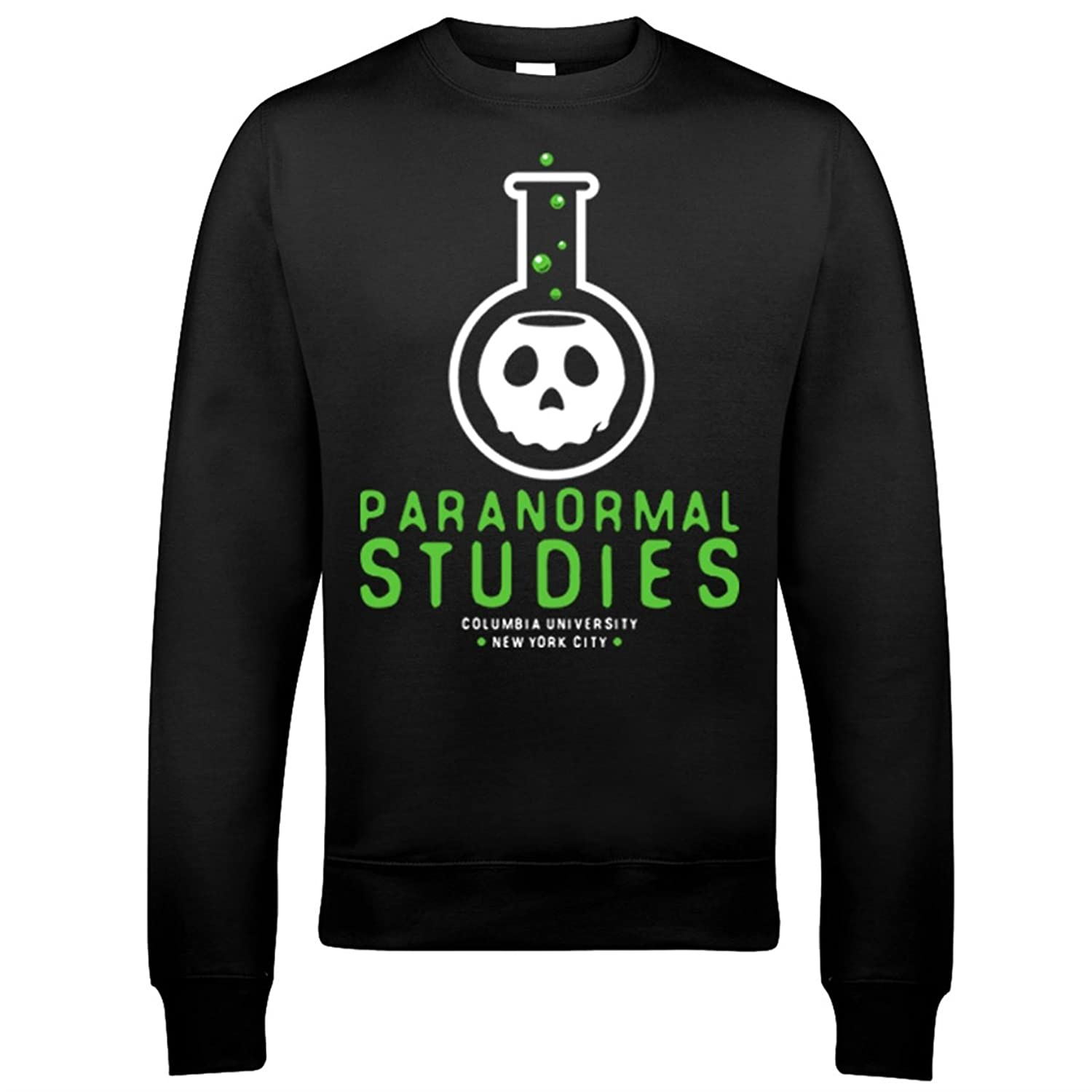 9124 Paranormal Studies Mens Sweatshirt Ghostbusters Marshmallow Rays Occult Books Ghost Stay Puft