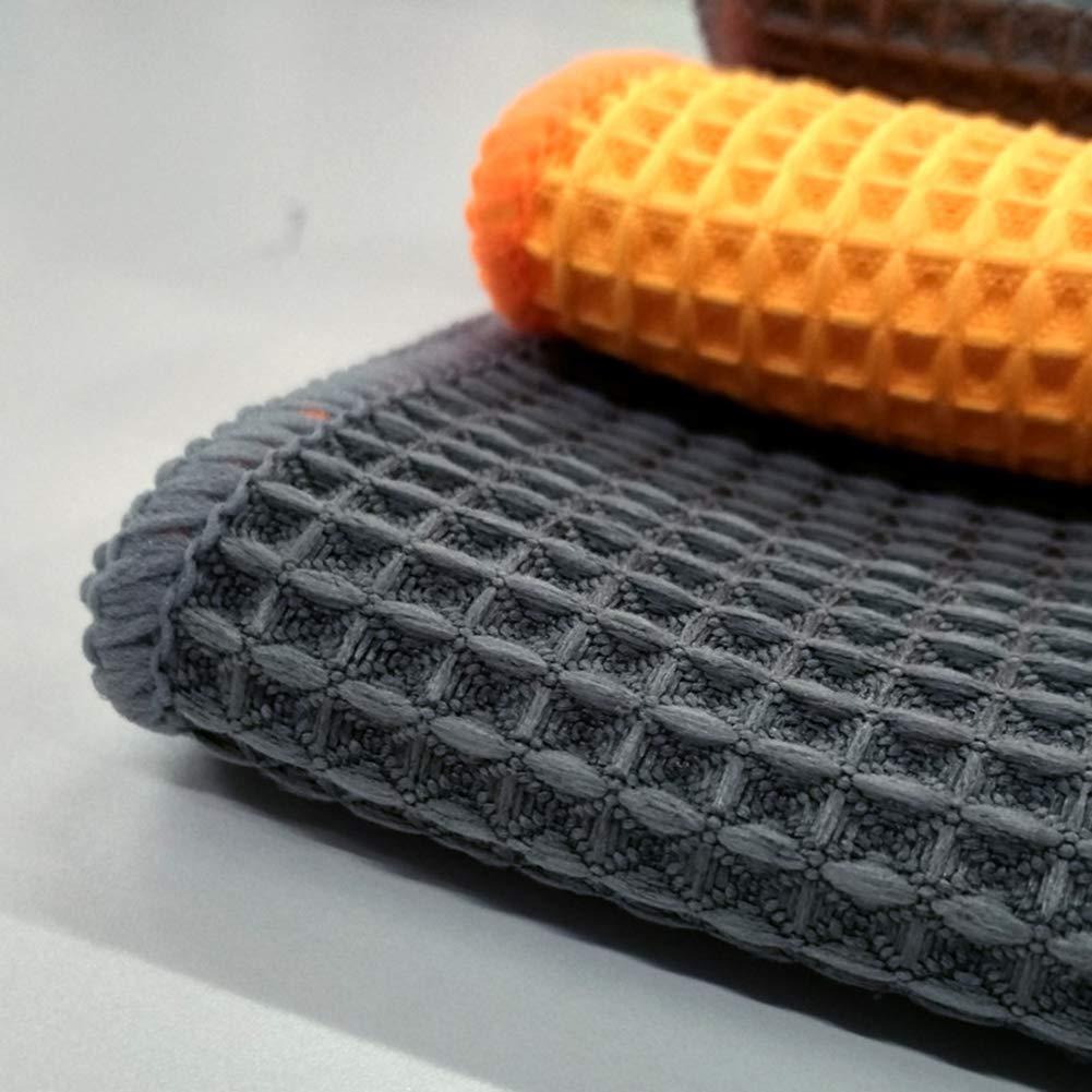 Danigrefinb Nid dabeille Serviette en Microfibres Car Care Chiffon de Nettoyage de Lavage en Cire Outil de Polissage