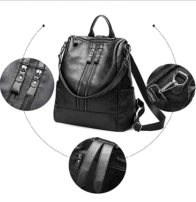 Bolsos de cuero para damas de gran capacidad Mummy bag mochila: Amazon.es: Belleza