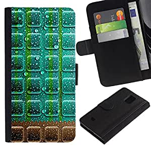 All Phone Most Case / Oferta Especial Cáscara Funda de cuero Monedero Cubierta de proteccion Caso / Wallet Case for Samsung Galaxy S5 Mini, SM-G800 // Neon Chocolate