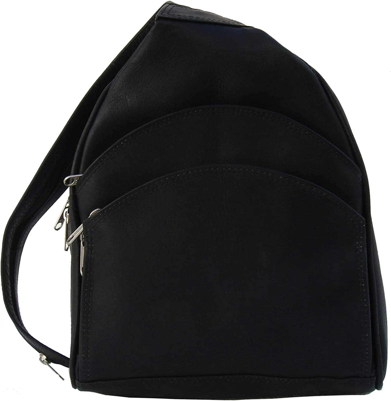 Piel Leather Three Pocket Sling Bag