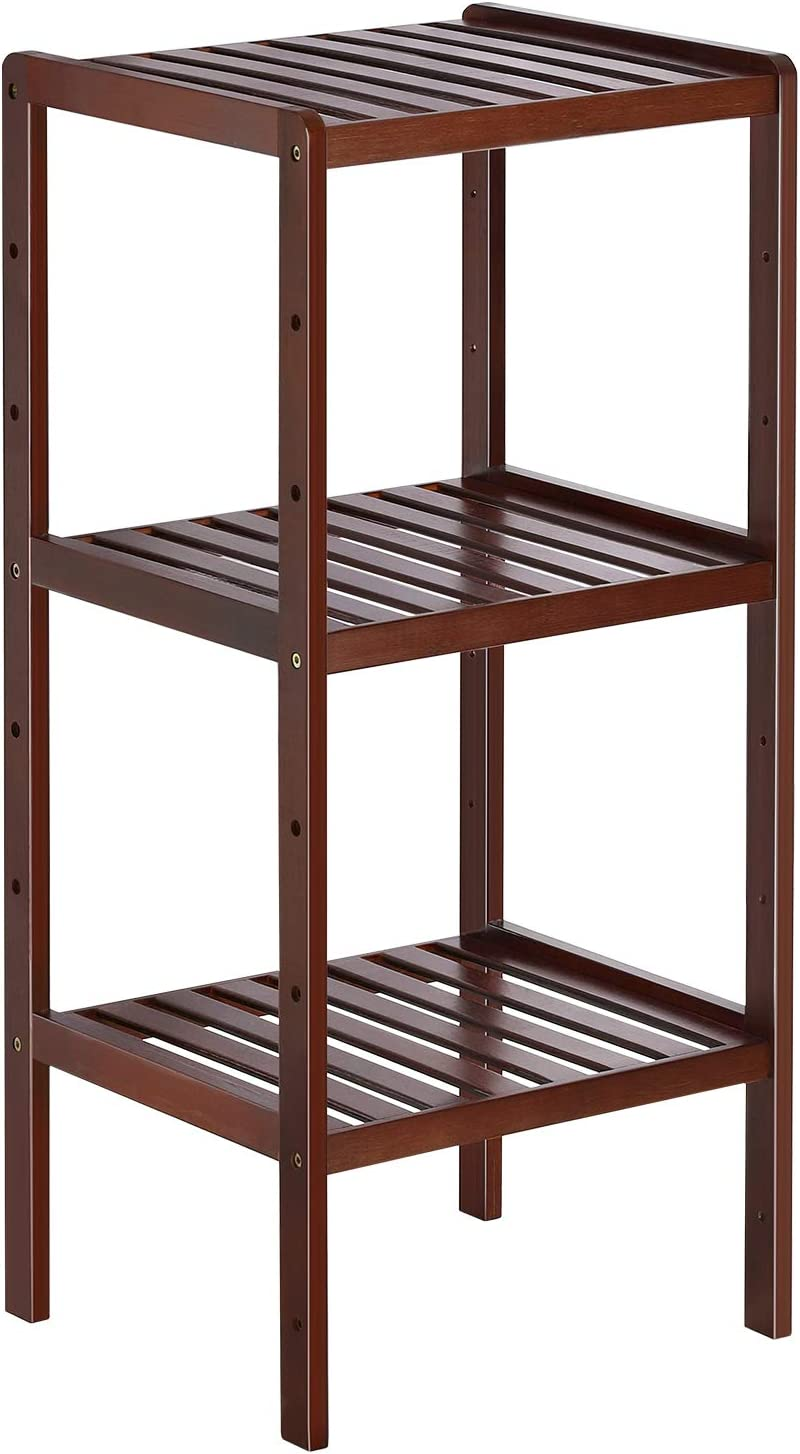 Bathroom Shelf Unit 3 Tiers Small Shelving Unit Freestanding Storage Metal Rack