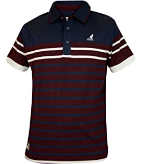 17493ab8 Kangol Mens Polo T Shirt Contrasted Top Self Patten Panels: Amazon ...