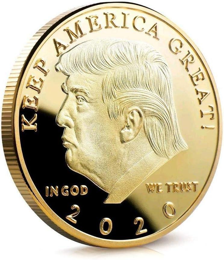 Gedenkm/ünze Virtual Metal Export Sammlung von Goldm/ünzen Silberm/ünze Geschenk 2020 Trump Virtual Gedenkm/ünze Pr/äsident der Vereinigten Staaten