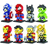 Charm Gift 8 Set LOZ Diamond Blocks Iron Man,captain America,spiderman,batman,superman,thor,hulk,loki Parent-child Games Building Blocks Children's Educational Toys