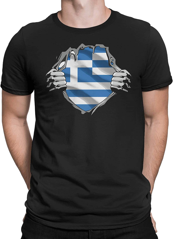 Marrola Greek Superhero Under Shirt Greece Flag T-Shirt