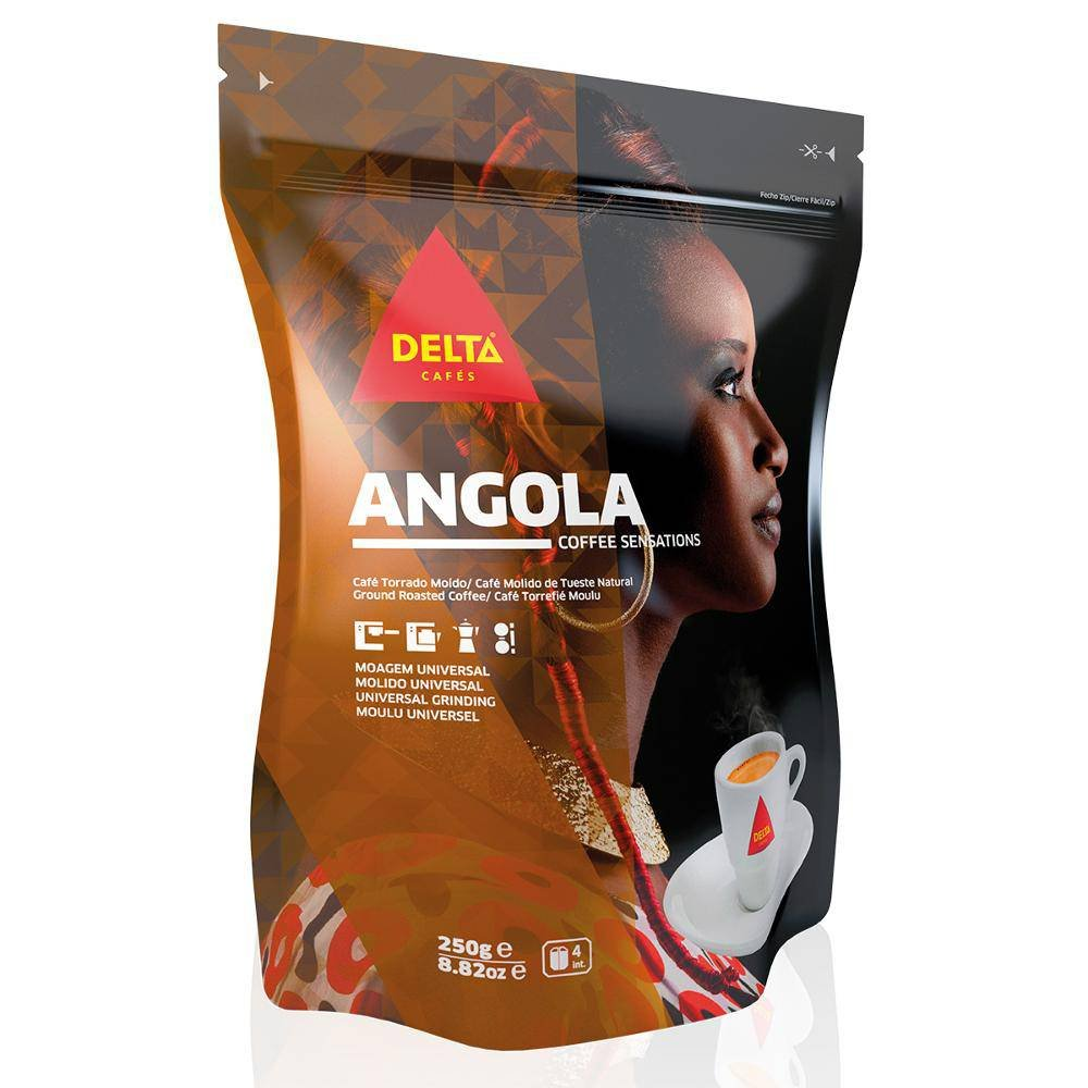 Delta Ground Roasted Coffee from ANGOLA for Espresso Machine or Bag 250g