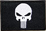 Black Skull Army Military Tactical Patch Iron On Vest Suit Jacket Backpack