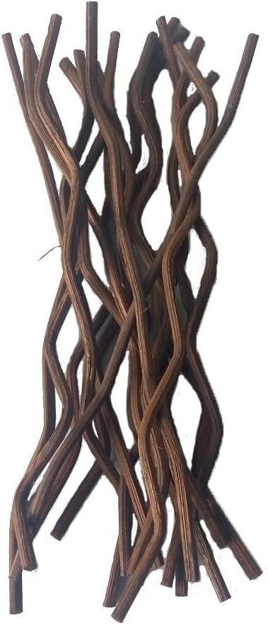 Brown Wavy Rattan Reed Fragrance Diffuser Replacement Refill Sticks