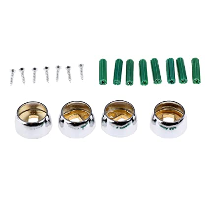 for 28mm Inner Diameter Rod Recess Brackets Heads Curtains Rod End Caps LOVIVER Set of 2 Metal Curtain Finials