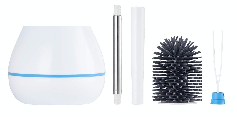Blanco SaaGiio Escobilla de ba/ño y Soporte de Silicona