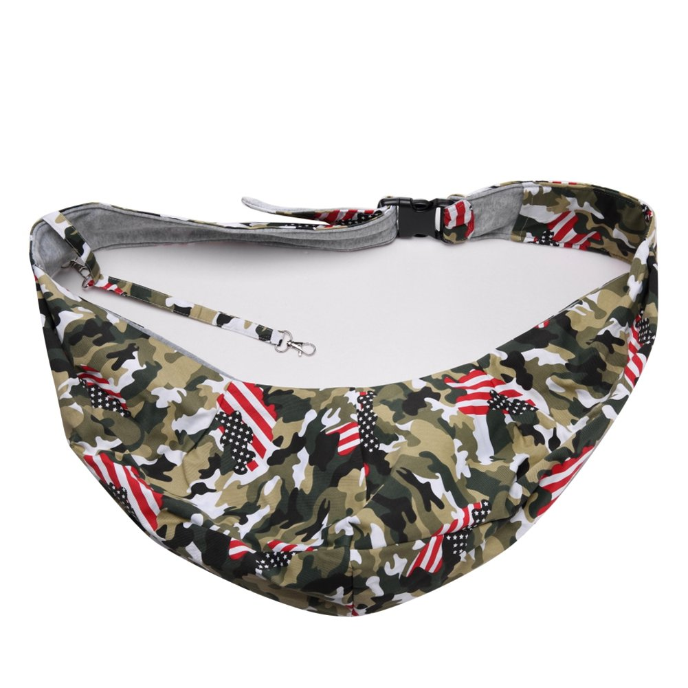 BERTERI Camo Pet Carrier Sling, Hands Free Reversible Pet Shoulder Bag, Adjustable Breathable Pet Travel Carrier for Dogs Cats Rabbits Puppies by BERTERI (Image #6)