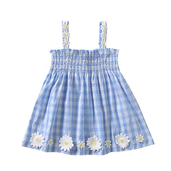 Ropa Bebe Niña Verano Logobeing Recien Nacido Vestido Mini Estampado Sin Mangas Vestido de Tirantes Flores: Amazon.es: Ropa y accesorios