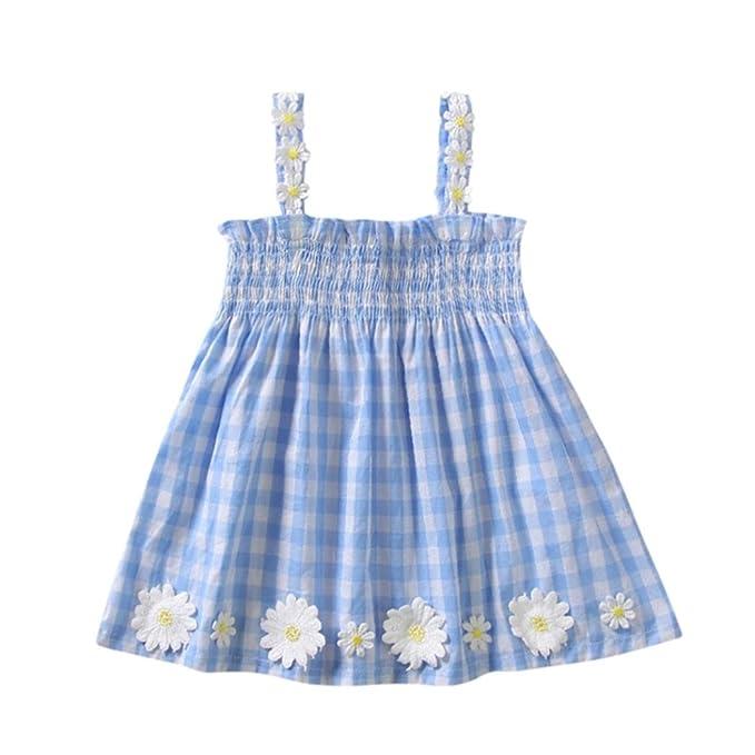 8616a705c Ropa Bebe Niña Verano Logobeing Recien Nacido Vestido Mini Estampado Sin  Mangas Vestido de Tirantes Flores  Amazon.es  Ropa y accesorios