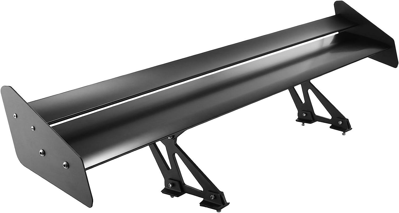 Chaneau GT 135cm Spoiler Arriere Universel Aileron Arri/ère Voiture /à Double Deck Tail Wing Aile En Aluminium L/éger