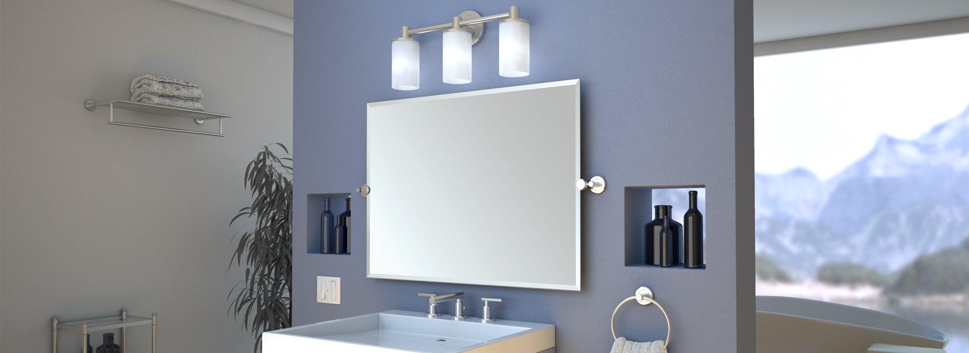 Gatco 1392SN Latitude II 17'' L Two-Tier Glass Shelf, Satin Nickel by Gatco (Image #3)