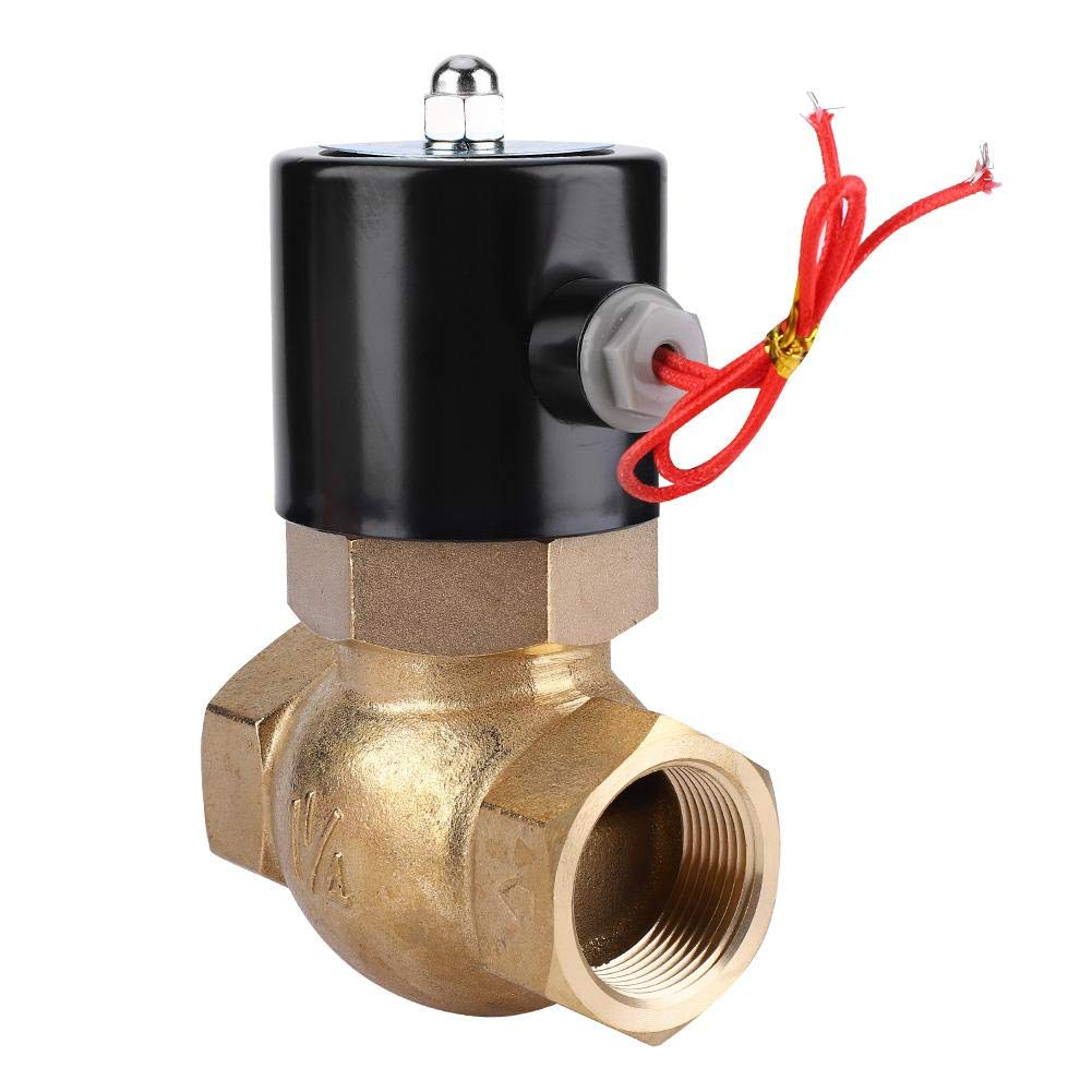 DC24V Normally Closed Electric Solenoid Valve Brass Two-Way Solenoid Valve for Air Water Steam
