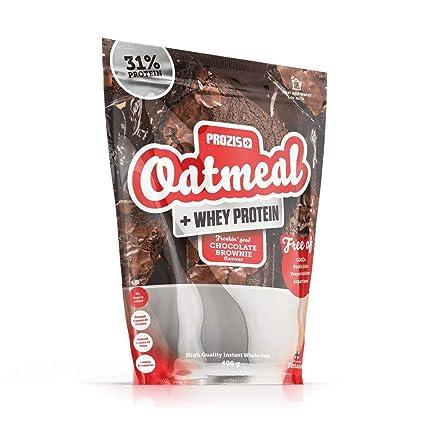 Prozis Oatmeal y Proteína de leche, Brownie de chocolate - 400 gr