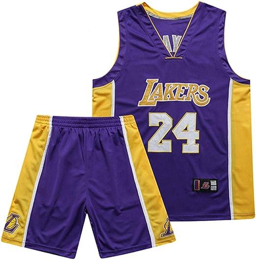WWJIE Camiseta de Baloncesto Kobe Bryant # 24 Los Angeles Lakers ...