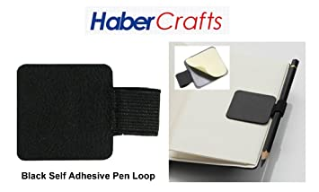 Fits Any Book Habercrafts Pink Pen Loop Pencil Holder For Notebook /& Diaries
