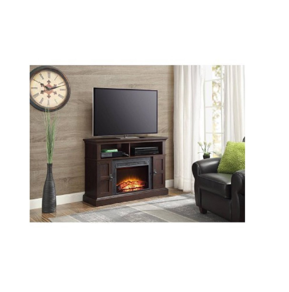 Enjoyable Whalen Media Fireplace Console For Tvs Up To 55 Dark Cherry Download Free Architecture Designs Grimeyleaguecom
